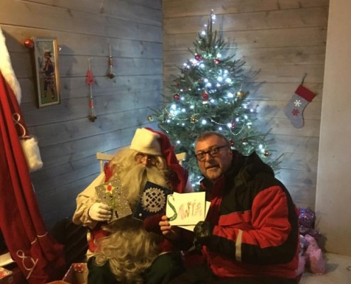 Meeting Santa at Lapland